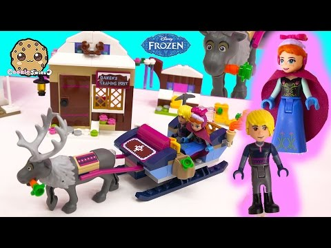 Disney Frozen Princess Anna & Kristoff's Sleigh Adventure LEGO Store Playset Toy Unboxing Video
