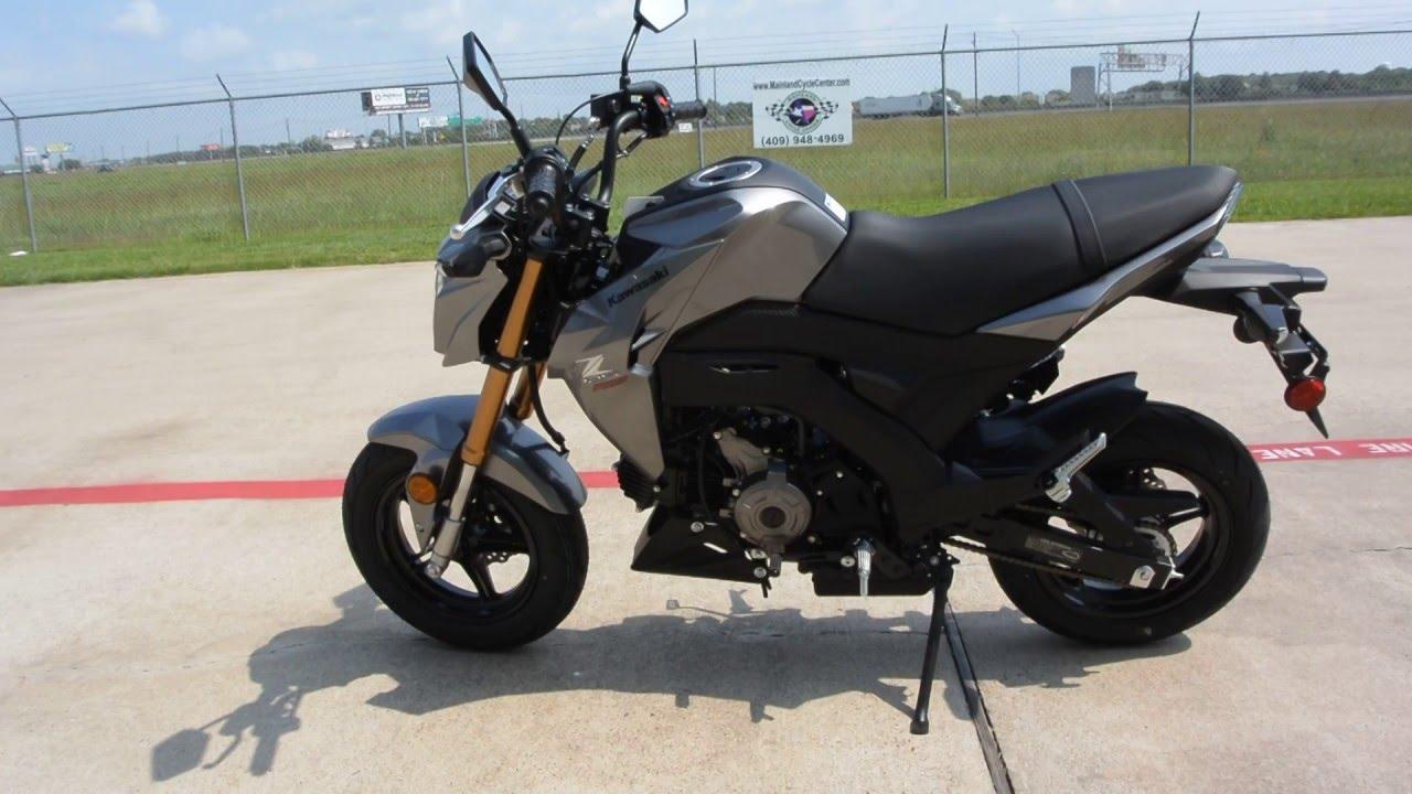2999 2017 Kawasaki Z125 Pro Metallic Graphite Gray Overview And