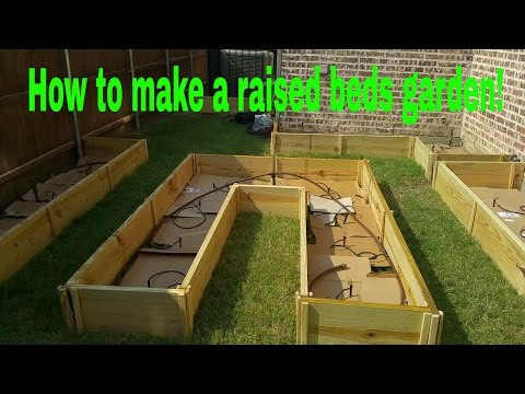 How to make a raised bed garden!