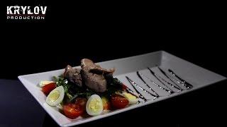 Салат с печенью трески - Видео блюд [KRYLOV PRODUCTION]