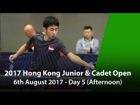 2017 ITTF Hang Seng Hong Kong Junior & Cadet Open - Day 5 (Afternoon)