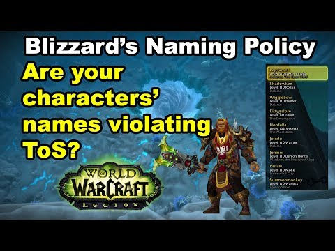 Blizzard's Naming Policy For WoW Characters - Do You Know The Terms Of Service?
