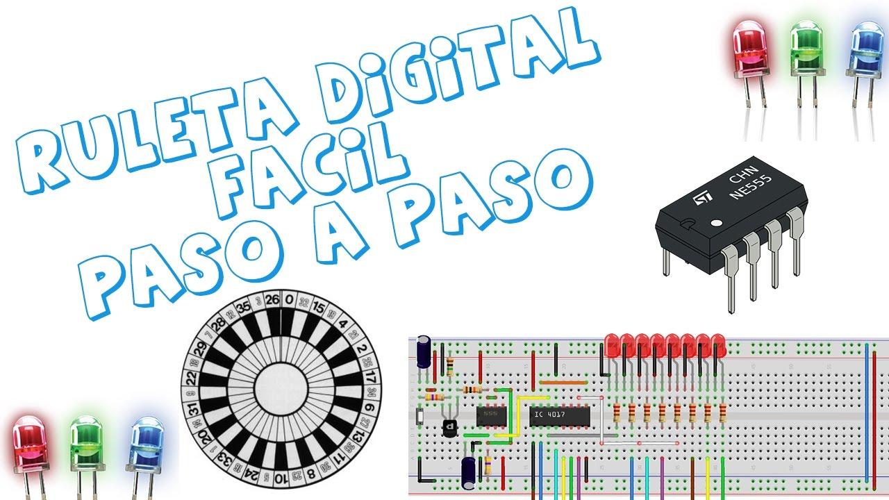 Circuito Integrado 555 : Ruleta digital fácil paso a youtube