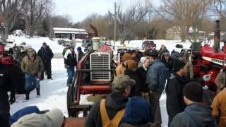 IHC Tractors on Oaktown, IN Farm Auction 2/25/15