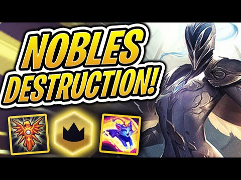 WINNING WITH NOBLES AT HIGH ELO?  TFT  Teamfight Tactics  League of Legends Auto Chess