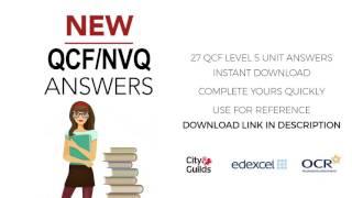 qcf level 5 unit answers