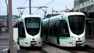 Paris tramway in 2008 - Citadis trams - Straßenbahn - Tram - Villamos  -   パリ