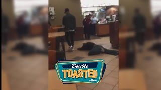 MAN GETS SLAMMED IN A CHICK FIL A OVER EX GIRLFRIEND - Double Toasted Highlight