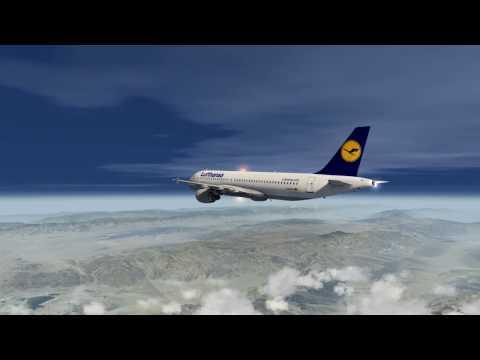 Las Vegas to Los Angeles stormy approach Lufthansa A320 [Full-Flight] Aerofly FS 2