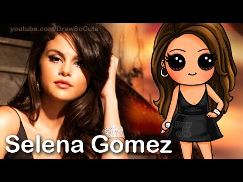 How to Draw Chibi Selena Gomez Cute step by step Same Old ...