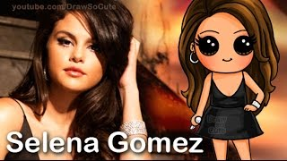 How to Draw Chibi Selena Gomez Cute step by step Same Old Love