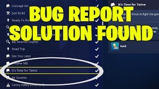 Fortnite Save The World Bug - It's Time For Twine Mission Bug + Solution