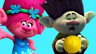 Dreamworks Trolls Movie, Song and Dance, Branch and Poppy Gumballs