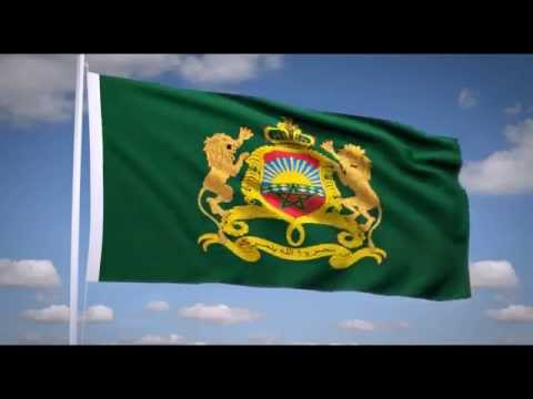 "National Anthem of Morocco (""النشيد الشريف"") Royal flag of Morocco"