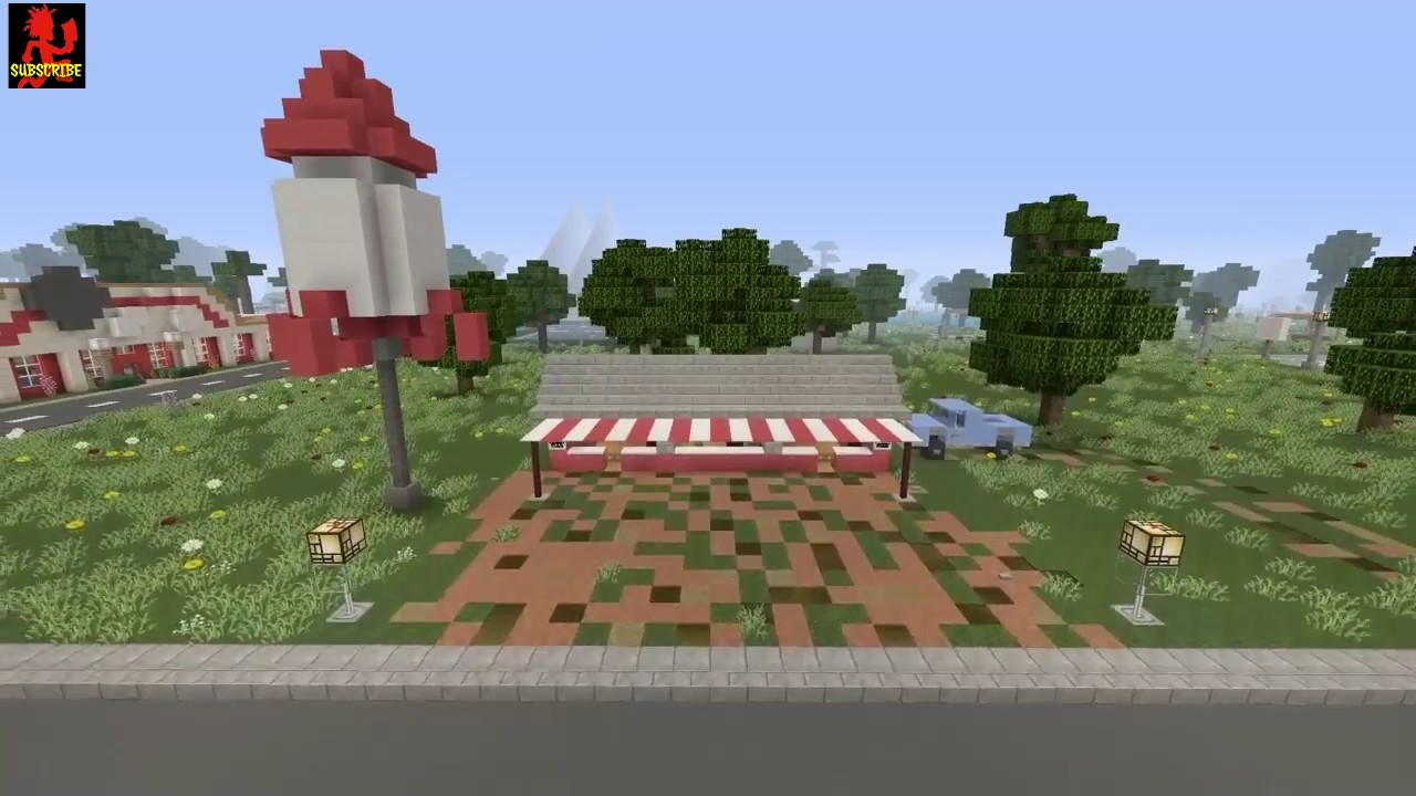 how to build a firework stand in minecraft