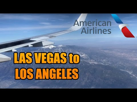 LAS VEGAS✈LOS ANGELES | FULL FLIGHT ✈️ LAS-LAX | American Airlines (#52)