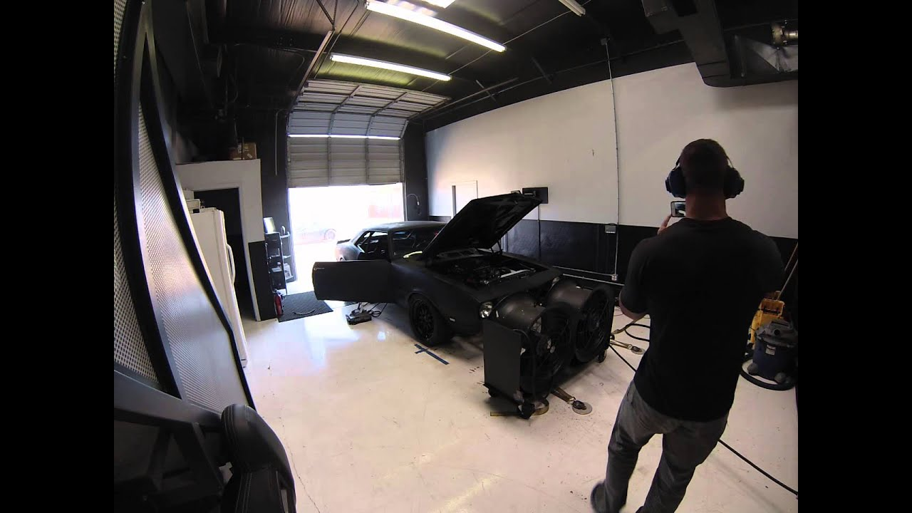 68 Camaro with supercharged LSX 376 on the dyno