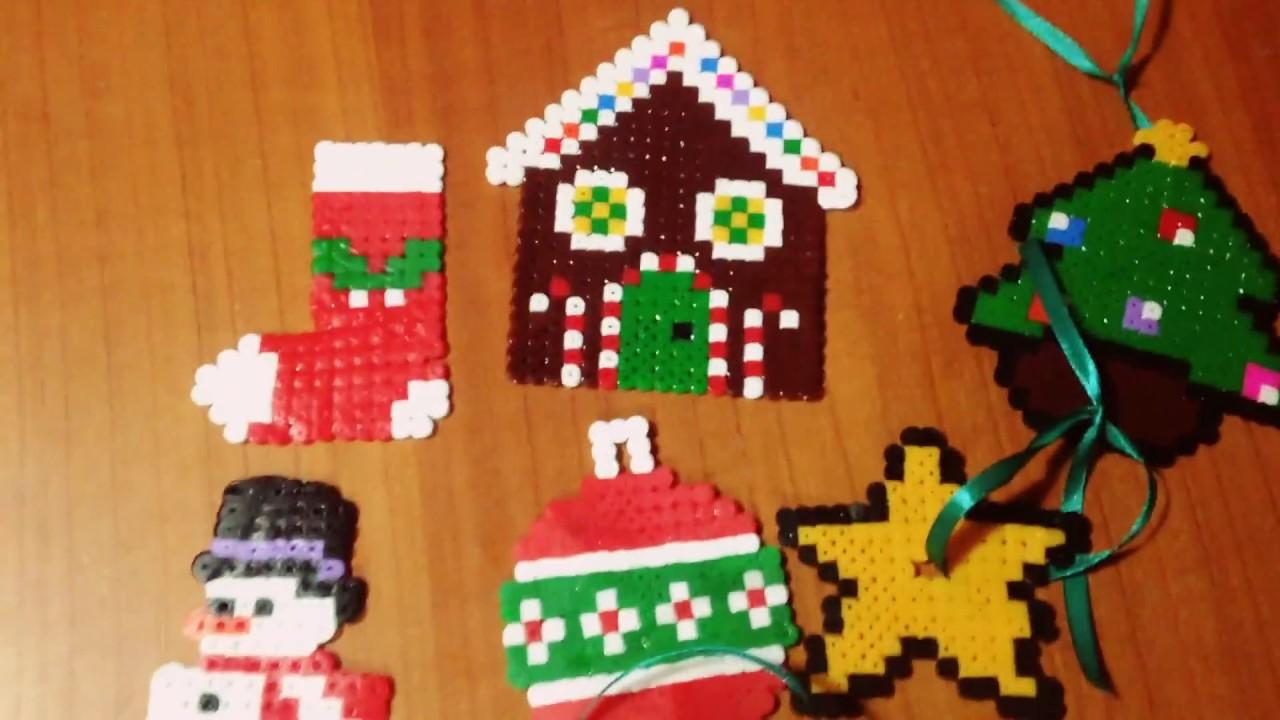Pyssla Natale.Le Mie Creazioni In Pyssla Di Natale