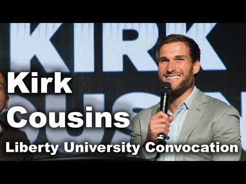 Kirk Cousins and Brett Fuller - Liberty University Convocation
