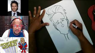 How To Draw Caricature James Franco