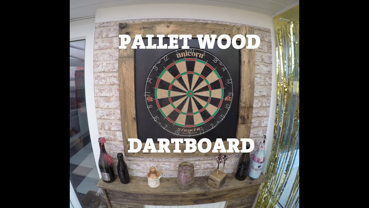 Pallet wood dartboard youtube for Diy dartboard lighting