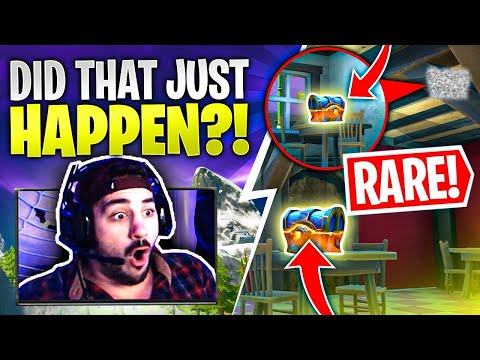 Insanely Rare Fortnite Legendary Chest Spawn! WHAT ARE THE CHANCES?!