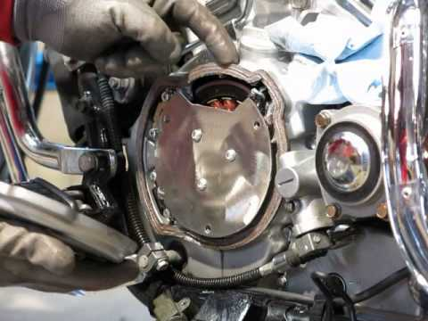 Kawasaki Vulcan VN750 stator replacement without removing