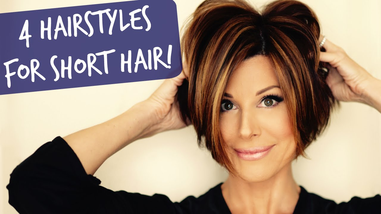 4 Easy Short Hairstyles That Will Make You Want A Bob! YouTube