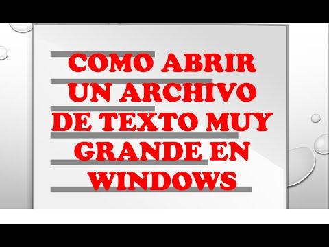 Como abrir un archivo de texto en Windows/Como abrir un archivo de texto que no abre word