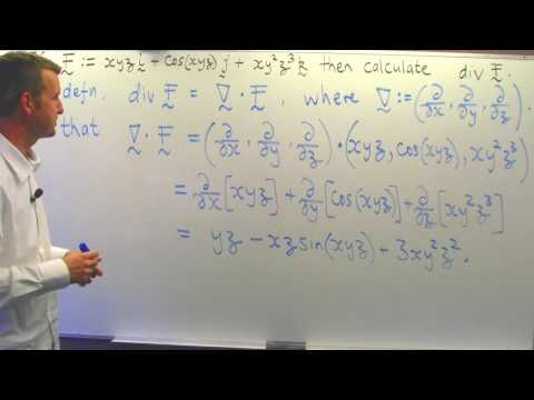Divergence of a vector field: Vector Calculus