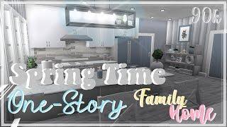 ROBLOX   Bloxburg: Spring Time One-Story casa da família + voz revelar