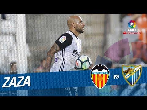 El hat-trick de Zaza en el Valencia CF vs Málaga CF (5-0)