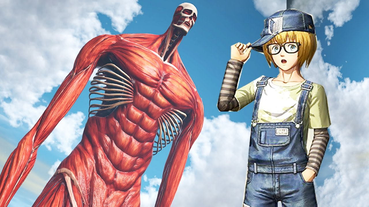 Sức Mạnh Siêu Khủng Của Armin Titan Đại Hình Khổng Lồ - Attack on Titan 2   Đại Chiến Titan Tập 74