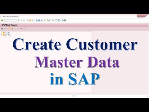 How to Create Customer Master Data in SAP