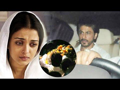 Shahrukh Khan At Aishwarya Rai's Father's LAST RITES