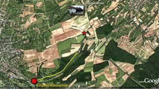 Weg zum Rohrbacher Hof bei Bruchsal