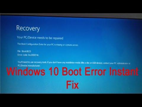 How To Fix Windows10 Error 0xc000014c 0xc0000605 Recovery Your Pc