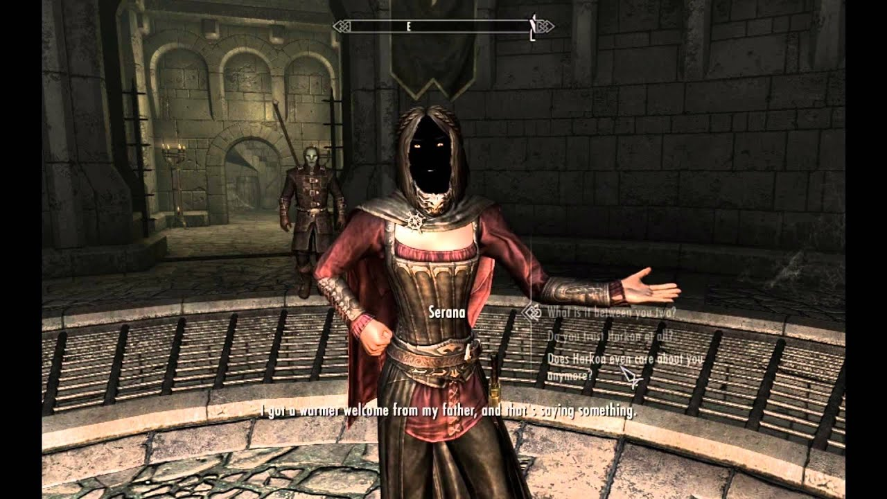 Skyrim - Serana's black face