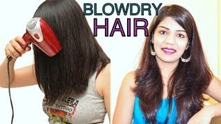 How To Blow Dry Hair Straight Add Volume and Bounce SuperPrincessjo
