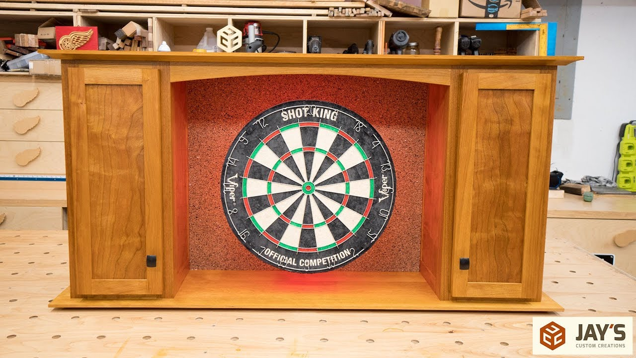 Cherry Dartboard Cabinet Complete In Depth Build Youtube