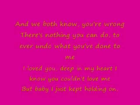 Shoulda let you go lyrics