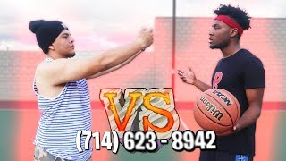 1v1 BASKETBALL vs Miss Thotiana's Ex Boyfriend! (If i win i get her Number)