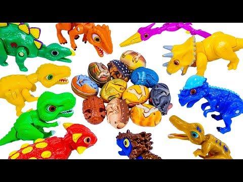 Lots of Dinosaurs Eggs & Jurassic world Dinosaurs toys 쥬라기월드 공룡메카드 공룡알 변신놀이