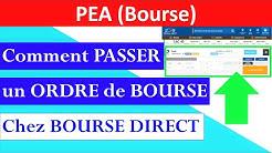 ✔️ COMMENT PASSER UN ORDRE DE BOURSE chez BOURSE DIRECT
