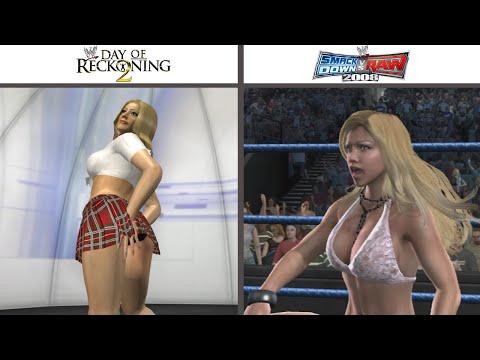 Evolution of Torrie Wilson in WWE Games