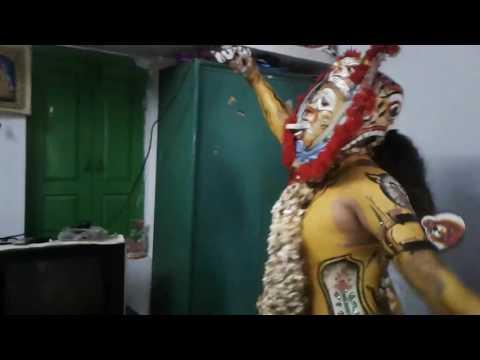 Thakurani jatra at berhampur,special tiger dance