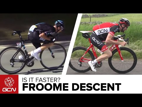 Pedalling On Your Top Tube - Is It Faster To Descend Like Chris Froome? GCN Does Science