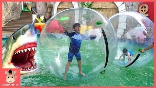 키즈카페 워터파크 어린이 물놀이 갔어요 ♡ 상어가족 워터 워킹볼 코코몽 키즈 놀이 kids water ball | 말이야와아이들 MariAndKids