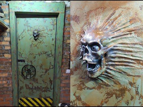 Декор стальной двери Zombie-аpocalypse Style