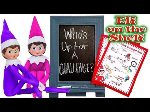 Purple & Pink Elf on the Shelf - Huge Indoor Scavenger Hunt! Day 14